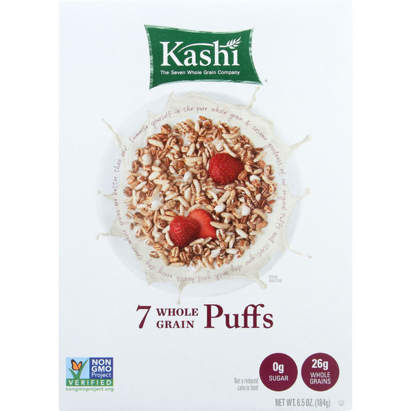 Kashi Cereal - 7 Whole Grain - Puffs - 6.5 oz - case of 10, Yeast Free, Vegan, Kosher, GMO Free, Kashi, Food and Beverage, Cereal, Food & Beverage