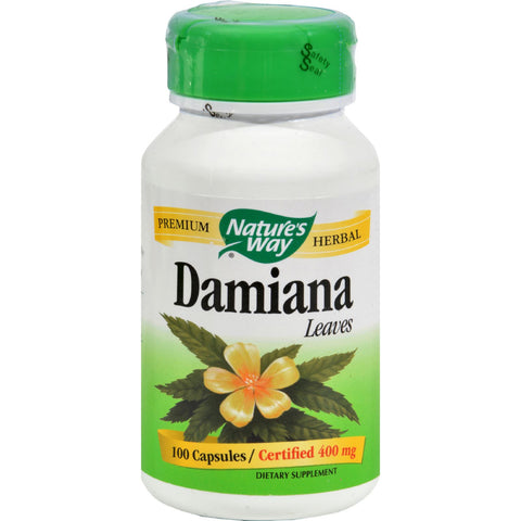 Nature's Way Damiana Leaves - 100 Capsules - Botanicals and Herbs, Nature's Way