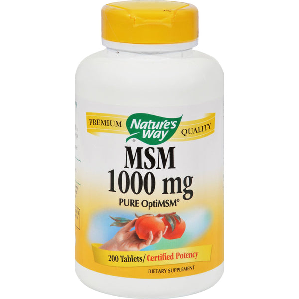 Nature's Way MSM - 1000 mg - 200 Tablets - Health Supplements, Nature's Way