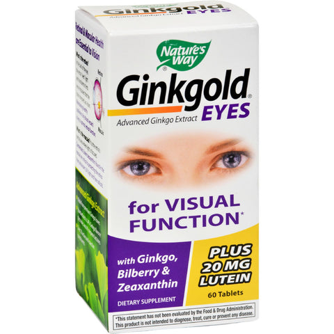 Nature's Way Ginkgold Eyes - 60 Tablets - Health Supplements, Nature's Way