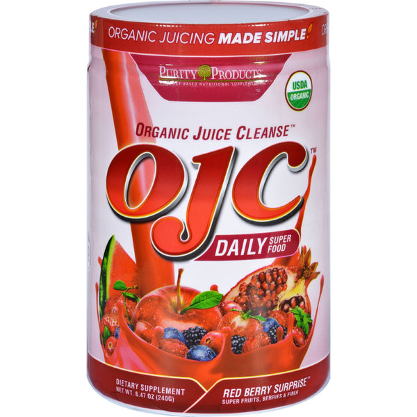 OJC-Purity Products Organic Juice Cleanse - Certified Organic - Daily Super Food - Red Berry Surprise - 8.47 oz - 95%+ Organic, Dairy Free, Gluten Free, Health Supplements, OJC-Purity Products, Vegan, Yeast Free