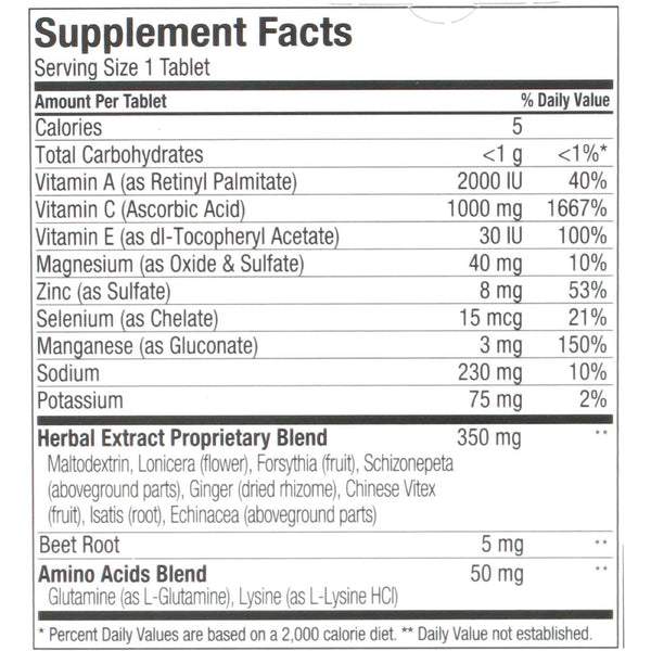 Airborne Effervescent Tablets with Vitamin C - Pink Grapefruit - 10 Tablets - Health Supplements - Nature's Batch