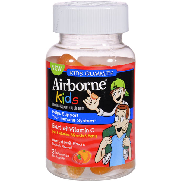 Airborne Vitamin C Gummies for Kids - Fruit - 21 Count - Baby and Children - Nature's Batch