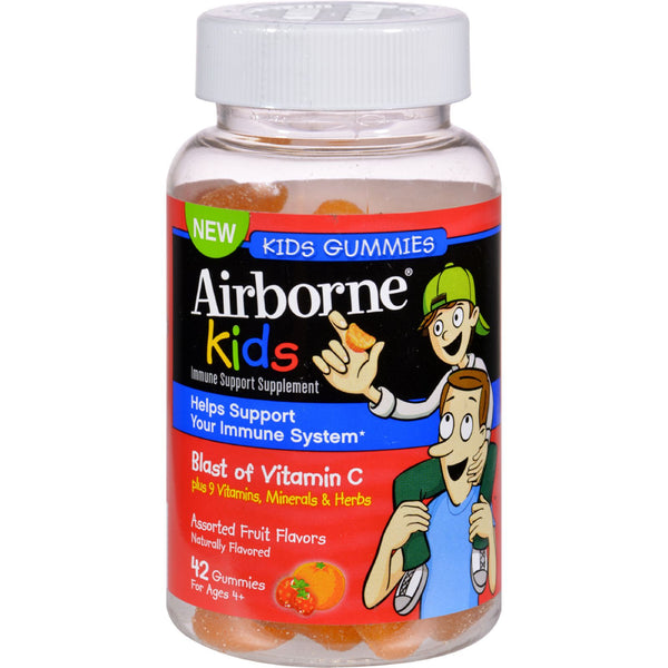 Airborne Vitamin C Gummies for Kids - Fruit - 42 Count - Baby and Children - Nature's Batch