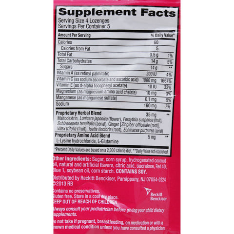 Airborne Lozenges with Vitamin C - Berry - 20 Count - Health Supplements - Nature's Batch