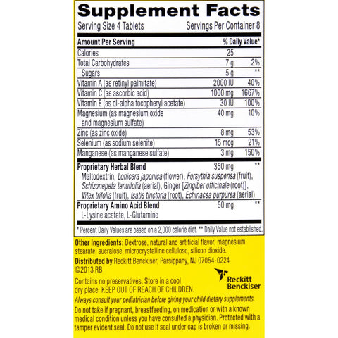 Airborne Chewable Tablets with Vitamin C - Citrus - 32 Tablets - Health Supplements - Nature's Batch
