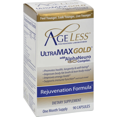 Ageless Foundation UltraMAX Gold With AlphaNeuro Complex - 90 Capsules - Health Supplements - Nature's Batch