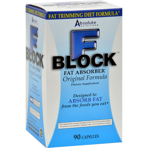 Absolute Nutrition FBlock Fat Absorber - 90 Caps - Sports and Fitness - Nature's Batch