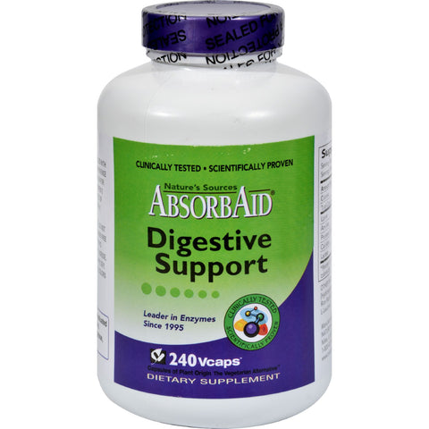AbsorbAid Digestive Support - 240 Vcaps - Health Supplements - Nature's Batch