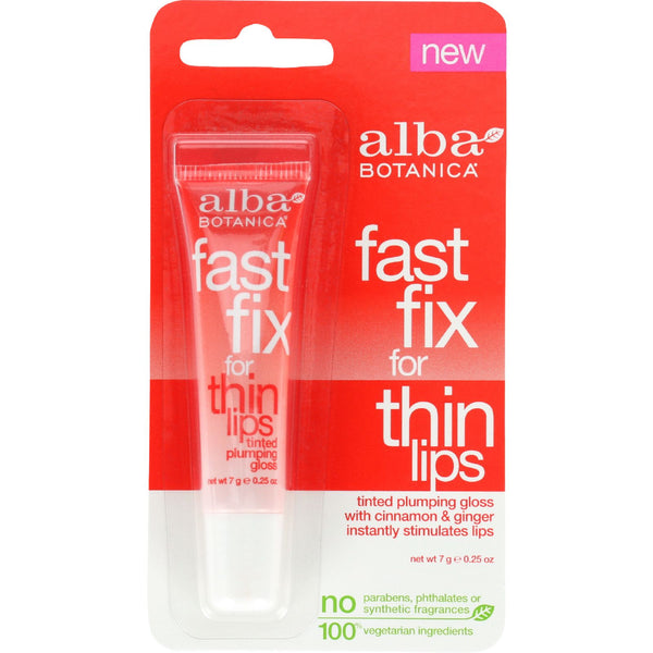 Alba Botanica Fast Fix for Thin Lips - .25 oz - Case of 6 - Cosmetics - Nature's Batch
