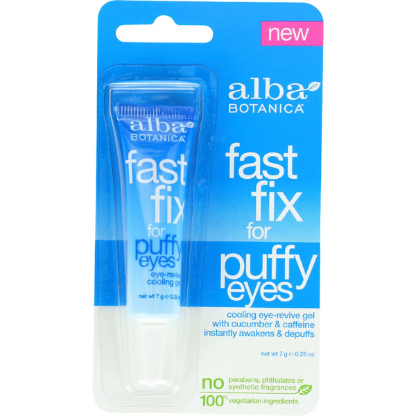 Alba Botanica Fast Fix For Puffy Eyes - .25 oz - Case of 6 - Facial Care - Nature's Batch