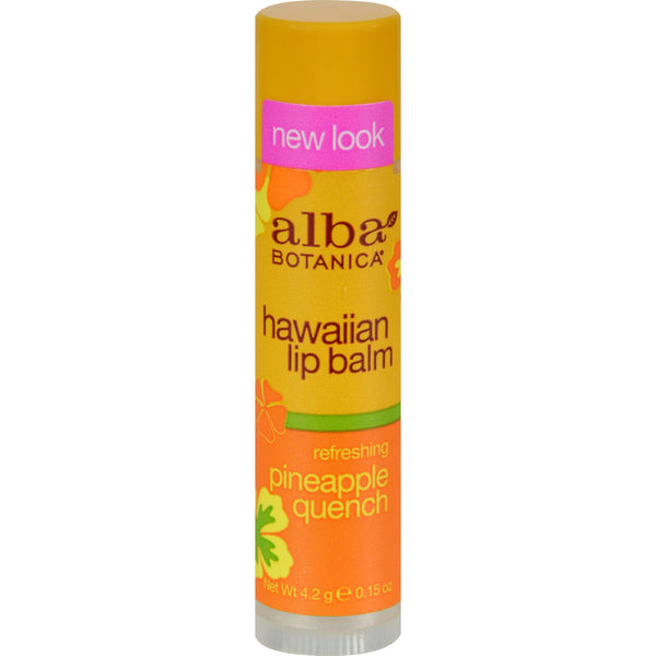 Alba Botanica Lip Balm - Pineapple Quench - Case of 24 - .15 oz - Facial Care - Nature's Batch