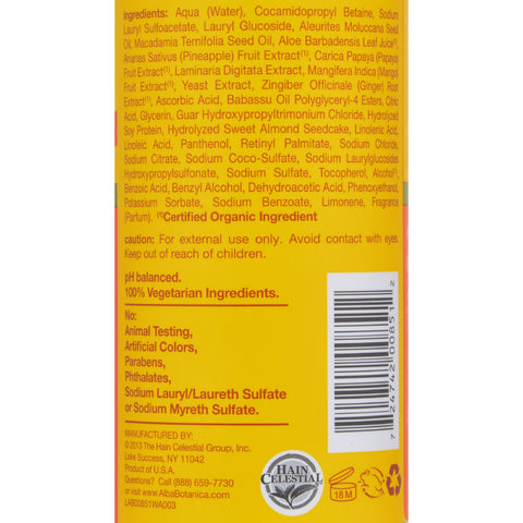 Alba Botanica Hawaiian Hair Wash Moisturizing Mango - 12 fl oz - Hair Care - Nature's Batch