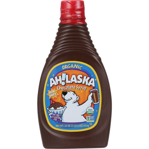 AhLaska Chocolate Syrup - Organic - 22 oz - case of 12 - Food and Beverage - Nature's Batch