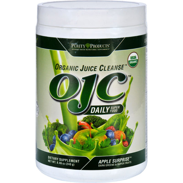 OJC-Purity Products Organic Juice Cleanse - Certified Organic - Daily Super Food - Apple Surprise - 8.47 oz - 95%+ Organic, Dairy Free, Gluten Free, Health Supplements, OJC-Purity Products, Vegan, Yeast Free