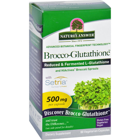 Natures Answer Brocco-Glutathione - 60 Vegetarian Capsules - Botanicals and Herbs, Gluten Free, Nature's Answer, Wheat Free, Yeast Free