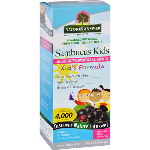 Natures Answer Sambucus - Kids Formula - Original Flavor - 8 oz - Baby, Children, & Maternity, Dairy Free, Gluten Free, Nature's Answer, Vegan
