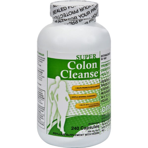 Health Plus Super Colon Cleanse - 500 mg - 240 Capsules - Health Plus, Health Supplements
