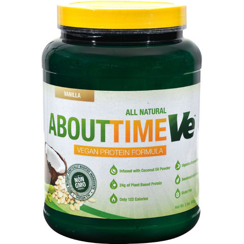 About Time Vegan Protein - Vanilla - 2 lbs - Sports and Fitness - Nature's Batch