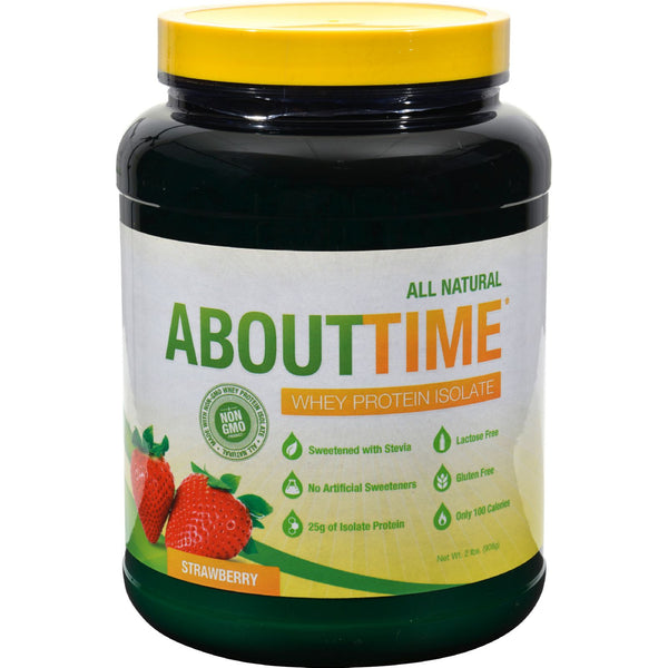 About Time Whey Protein Isolate Strawberry - 2 lbs - Sports and Fitness - Nature's Batch