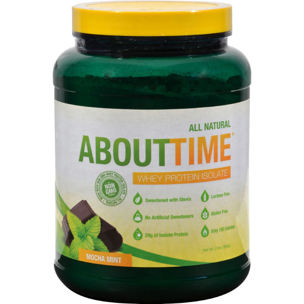 About Time Whey Protein Isolate Mocha Mint - 2 lbs - Sports and Fitness - Nature's Batch