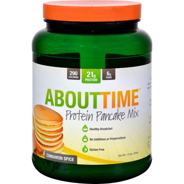About Time Protein Pancake Mix - Cinnamon Spice - 1.5 lb - Food and Beverage - Nature's Batch