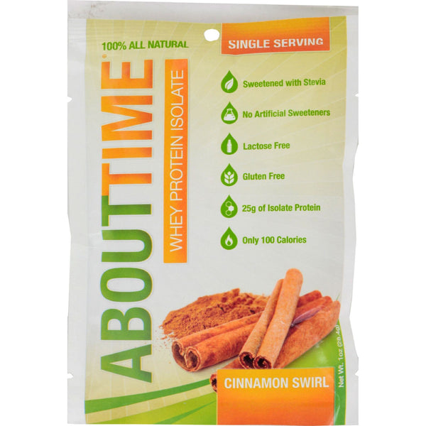 About Time Whey Protein Isolate - Cinnamon - 2 lb - Sports and Fitness - Nature's Batch