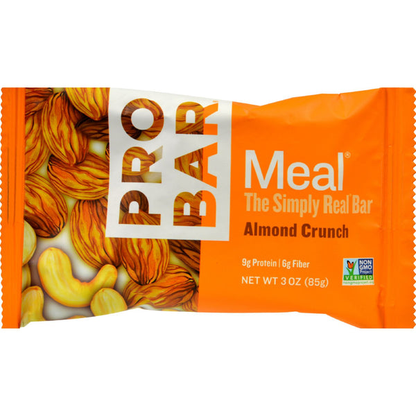 Probar Meal Bar - Organic - Almond Crunch - 3 oz - 1 Case - 70%+ Organic, Dairy Free, GMO Free, Probar, Sports and Fitness, Vegan, Wheat Free, Yeast Free