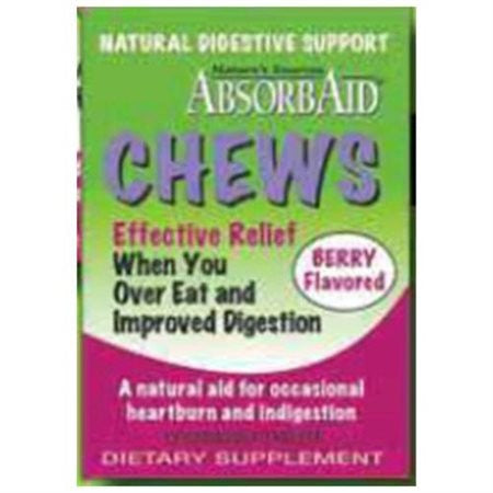 Absorbaid Digestive Chews - Berry - 12 Tablets - Case of 12 - Health Supplements - Nature's Batch