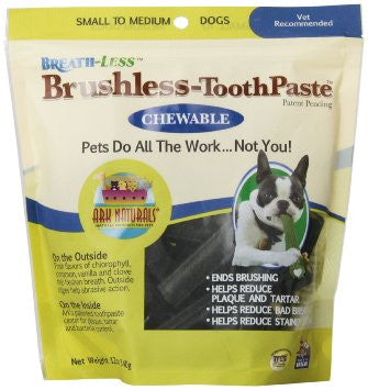 Ark Naturals Breath-Less Brushless-ToothPaste - Chewable - Small to Medium Dogs - Case of 60 - Ark Naturals, Gluten Free, Pet Care and Supplies, Wheat Free, Yeast Free