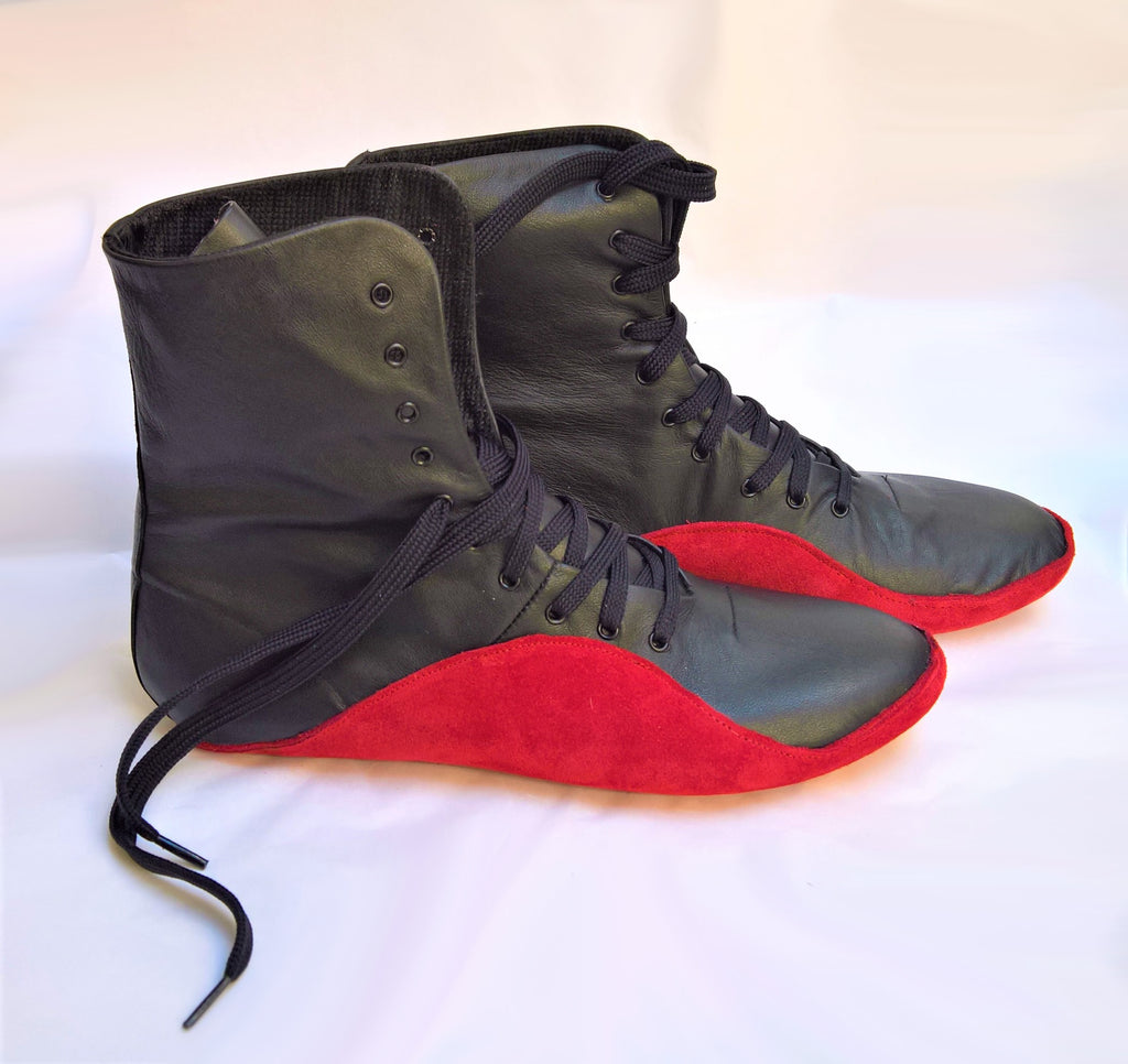 2-Tone Black & Red Tightrope boots