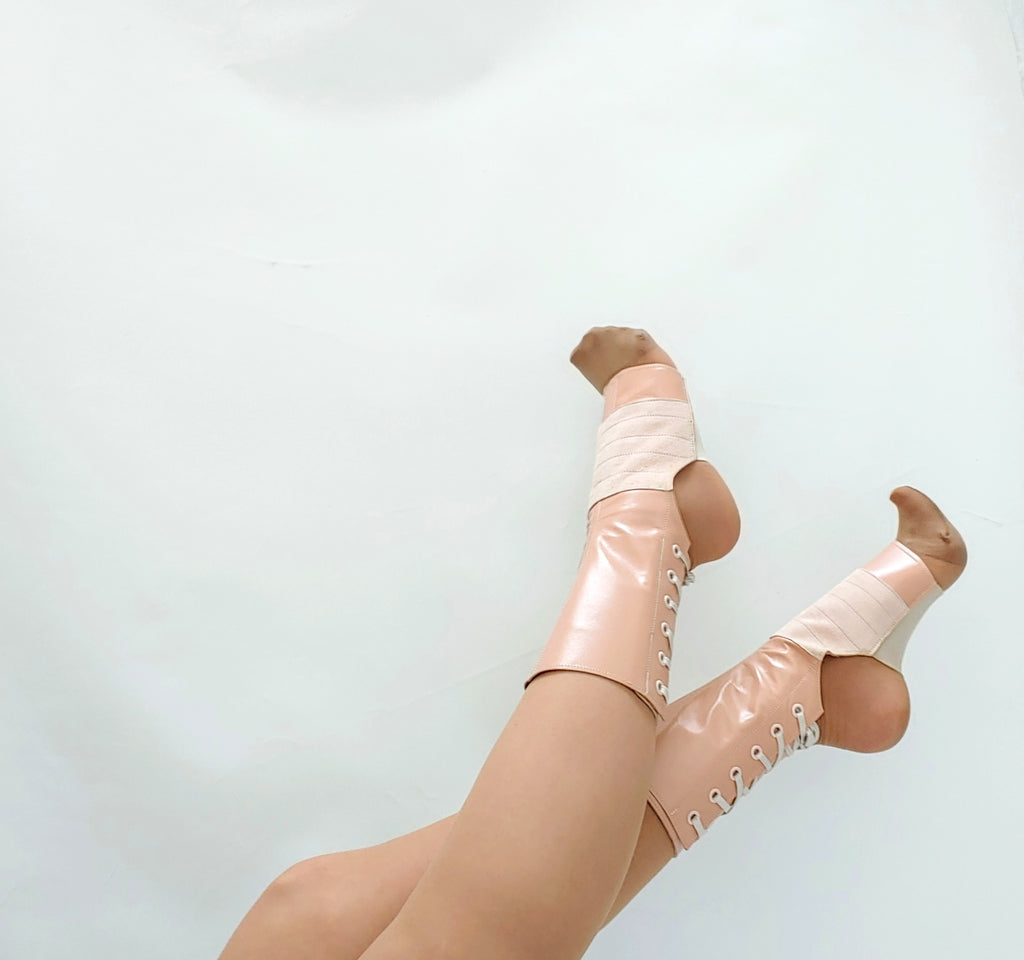 SAMPLE SALE - Nude/Dusty Pink Aerial Boots