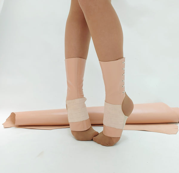 LIMITED EDITION Short Aerial boots in NUDE/ Dusty Pink + Suede Grip