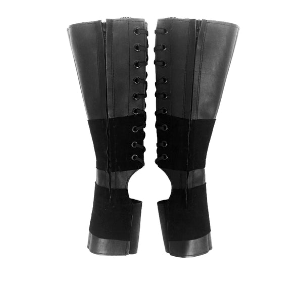 Classic Black Aerial Boots w/ side ZIP + Suede Grip