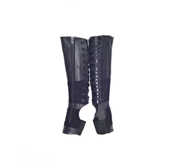 CHILDRENS Classic Black Aerial Boots w/ side ZIP