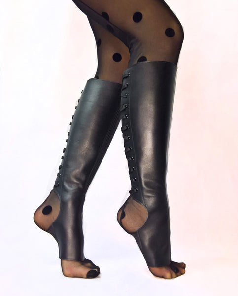 Classic Black Aerial boots w/ side ZIP