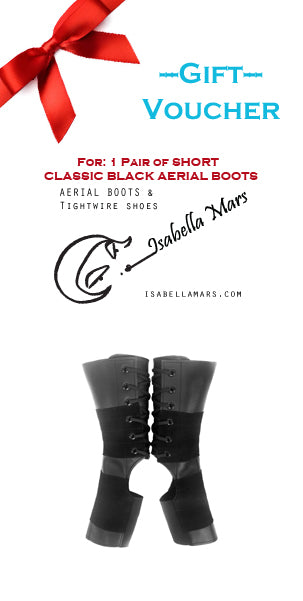 GIFT VOUCHER for SHORT Classic Black Aerial Boots w/ Suede Grip