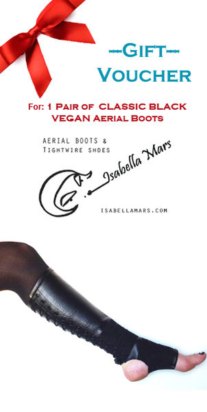 GIFT VOUCHER for Classic Black VEGAN Aerial Boots