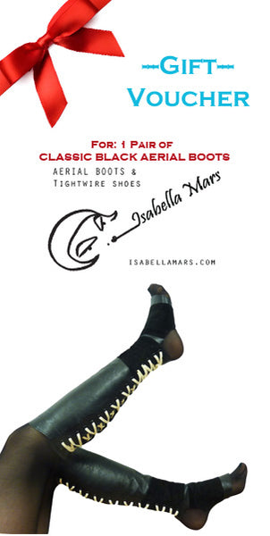 GIFT VOUCHER for Classic Black Aerial Boots w/ Suede Grip