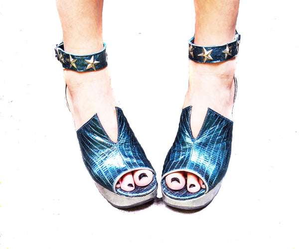 Limited Edition MERMAID Platform Sandals w/ Collar