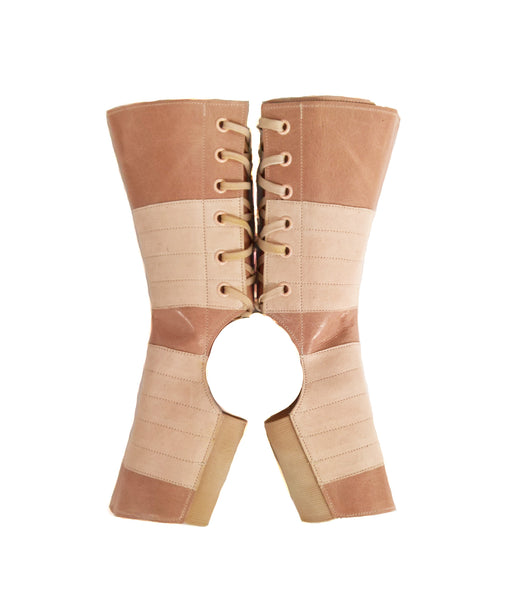 LIMITED EDITION Short Aerial boots in NUDE/ Dusty Pink