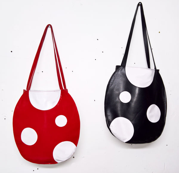 "Cartoon Polkadot ""MUSHROOM"" Tote Bag"