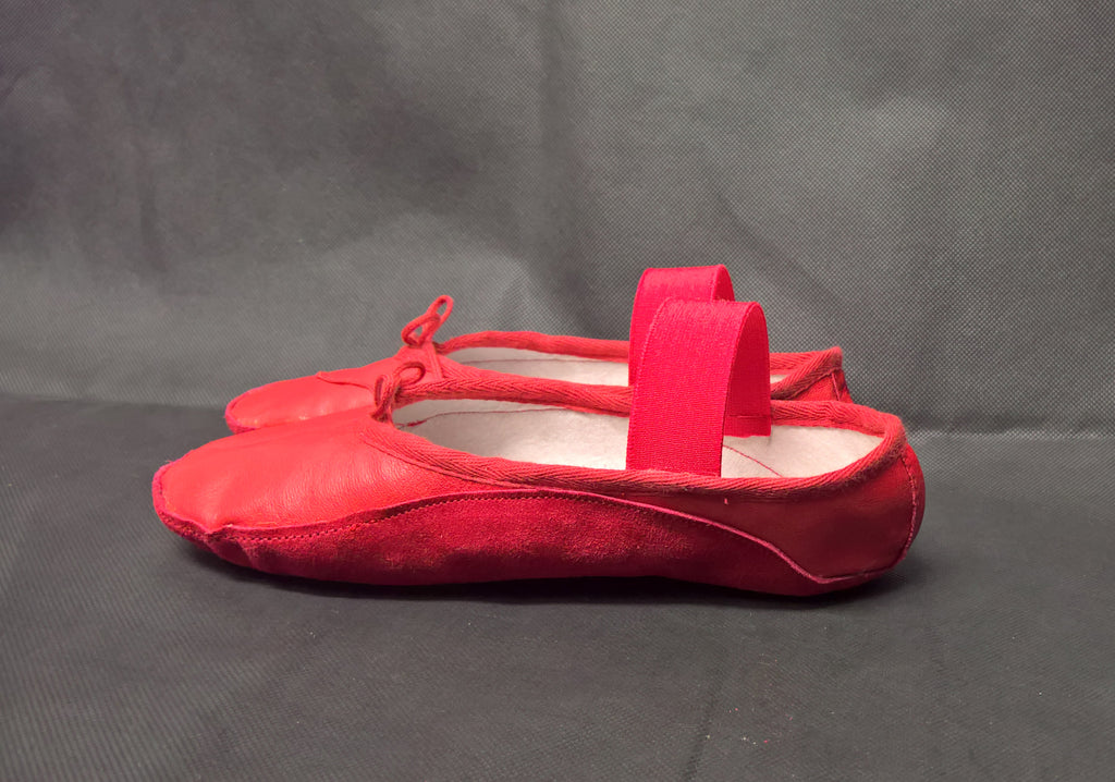 Red Ballet style Tightrope Shoes UK 3