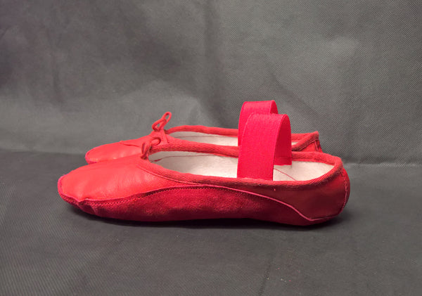 Red Tightrope Shoes Ballet Style
