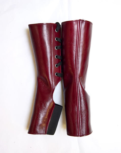 Short BURGUNDY Aerial boots