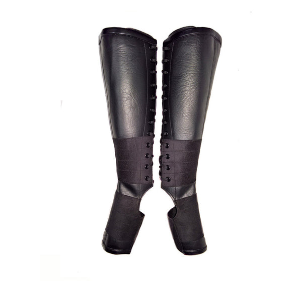 Classic Black VEGAN Aerial Boots w/ grip panels + inside ZIP