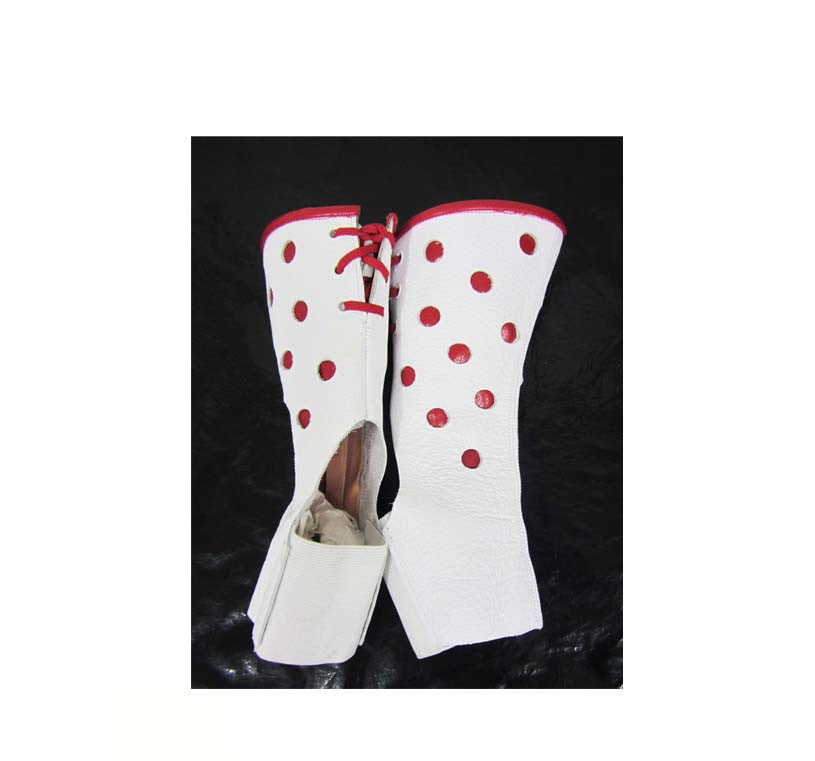 SHORT Polkadot Red & White AERIAL BOOTS Child/small Adult size