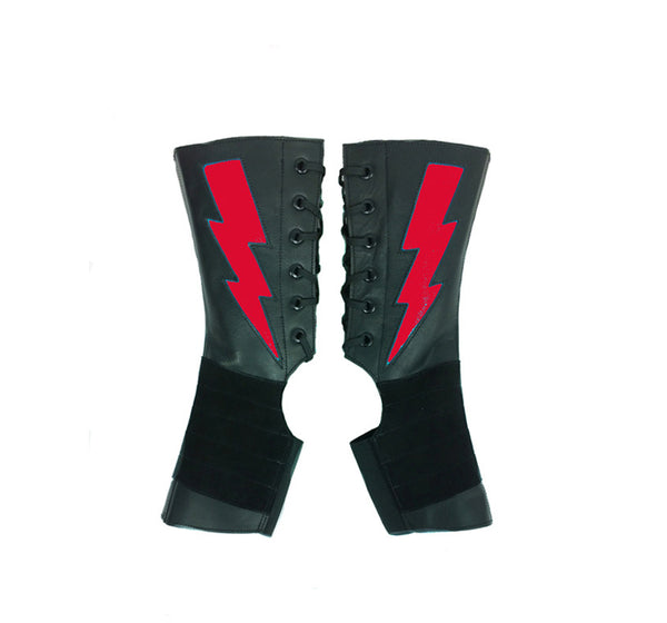 Short Black Aerial boots w/ ZIGGY Bolt + Grip Panel