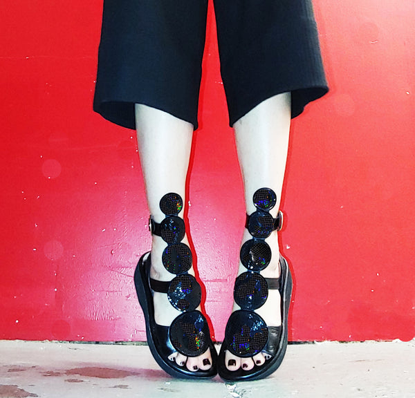 Monochrome Black BARBARELLA Sandals