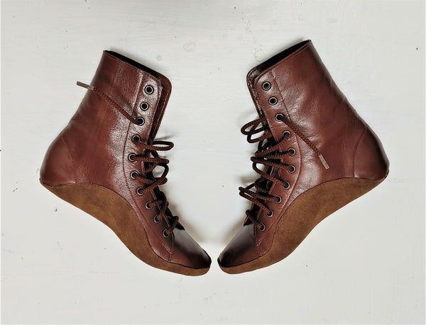 CUSTOM MADE Chestnut Brown Tightrope Boots